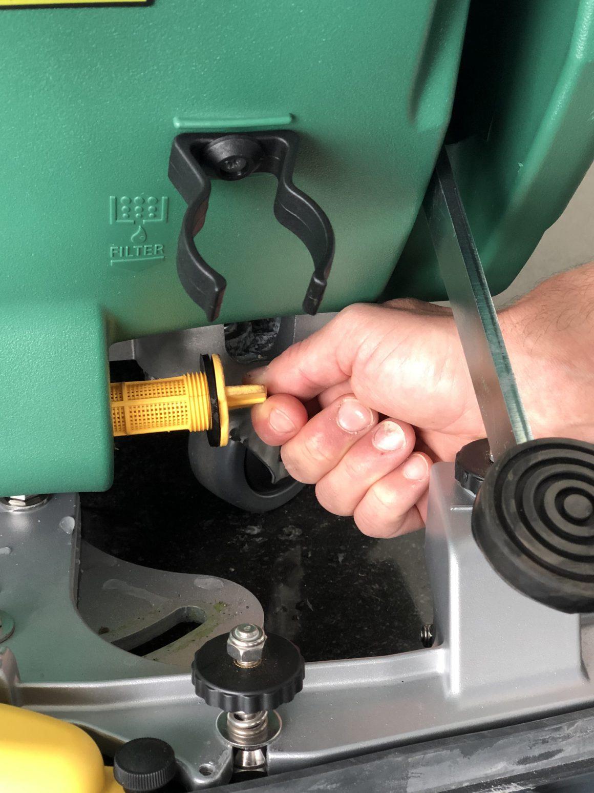 toevoerfilter schrobzuigmachine