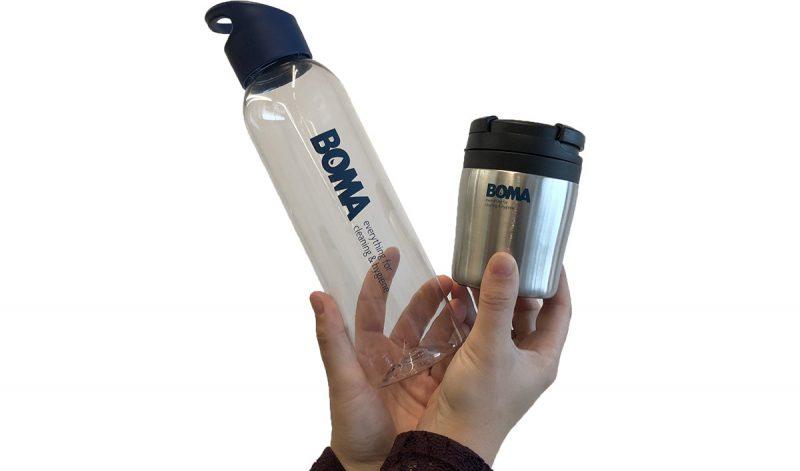 Herbruikbare flesjes en koffiebekers
