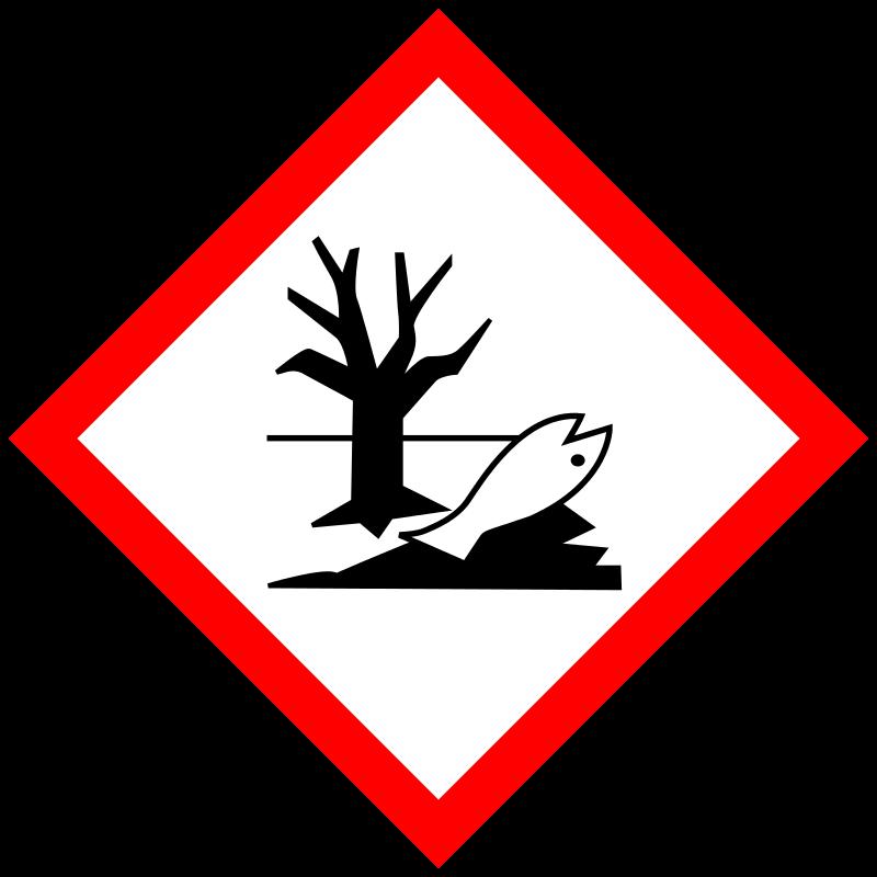 Gevarensymbool gevaarlijk voor het milieu