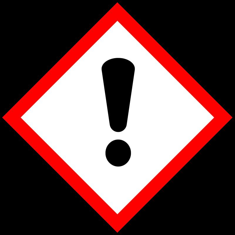 Gevarensymbool schadelijk