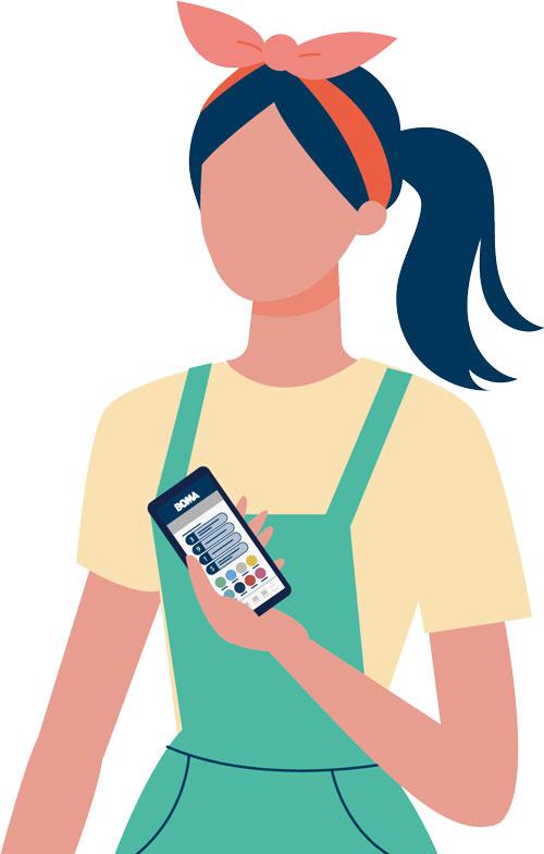 BOMA BiP app dame smartphone